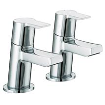 BRISTAN Pisa Bath Pillar Taps Chrome Plated Lever Handles Pair PS 3/4 C