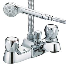 BRISTAN Value Club Deck Mounted Bath/Shower Mixer w/ Handset Chrome Pl VAC LBSM C MT