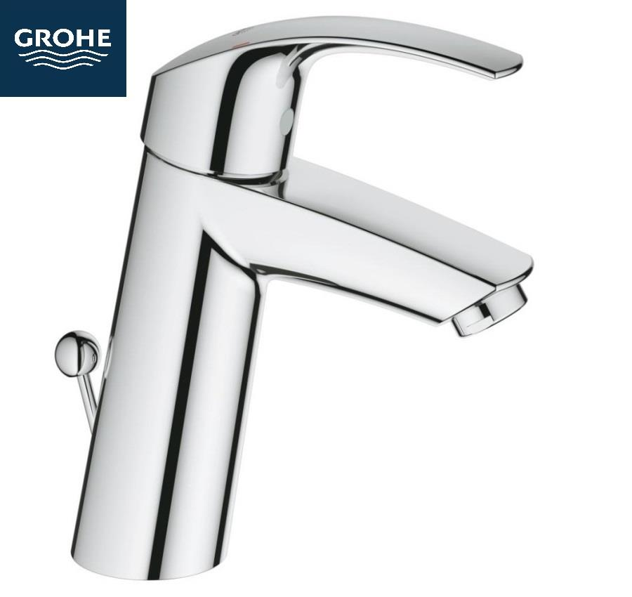 grohe eurosmart single lever basin mixer 1 2 m size w puw chrome 23322 001. Black Bedroom Furniture Sets. Home Design Ideas