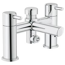 GROHE Concetto Deck Mounted Bath/Shower Mixer w/ Diverter Chrome Plated 25109 000