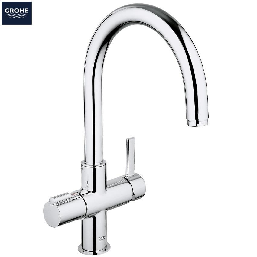 grohe red duo kitchen mixer arched spout and single boiler 4ltrs chrome 30058 000. Black Bedroom Furniture Sets. Home Design Ideas