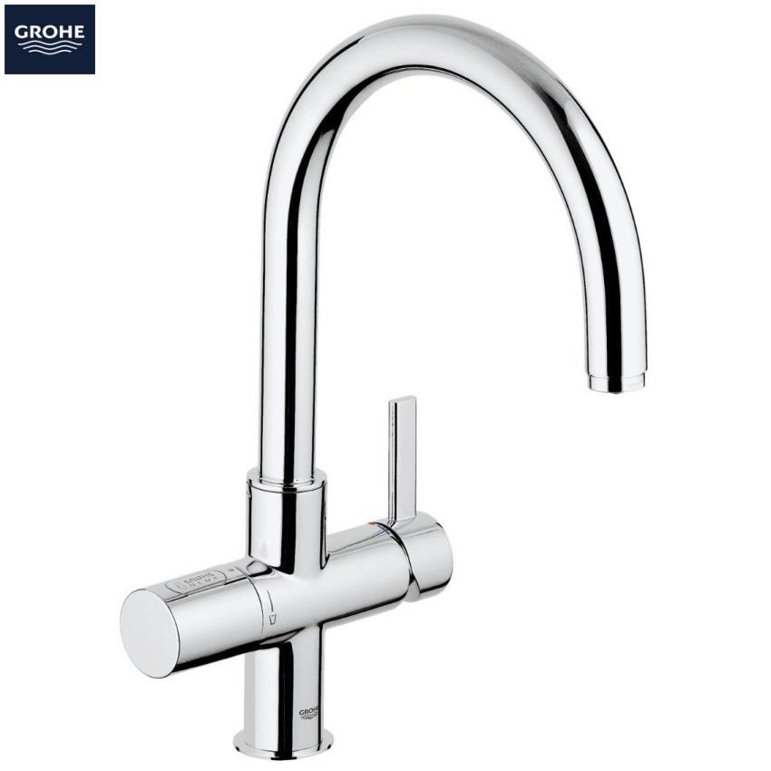 grohe blue pure filter kitchen mixer starter kit chrome 31087 001. Black Bedroom Furniture Sets. Home Design Ideas