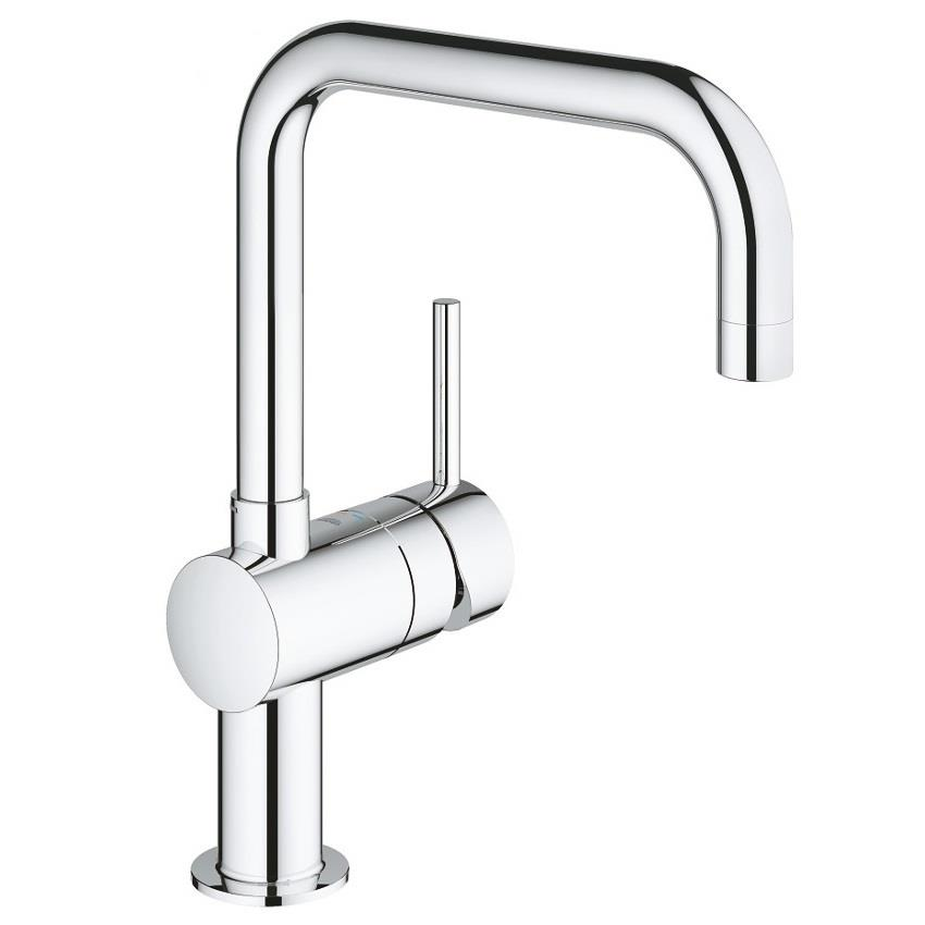 grohe minta monobloc kitchen sink mixer square spout chrome 32488 000. Black Bedroom Furniture Sets. Home Design Ideas
