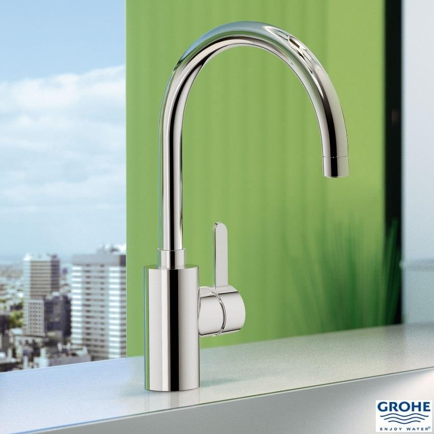 grohe eurosmart cosmopolitan monobloc kitchen sink mixer. Black Bedroom Furniture Sets. Home Design Ideas