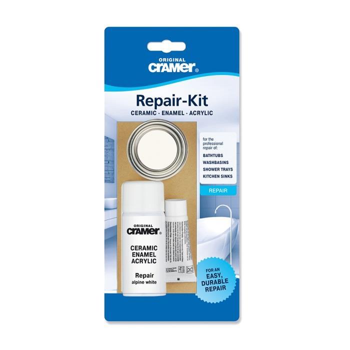 CRAMER Kitchen And Baths Ceramic Enamel Acrylic Repair Kit Alpine White 16080