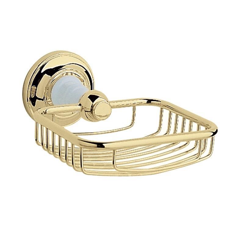 Heritage Bathroom Accessories: Heritage Clifton Soap Basket Vintage Gold, ACA14