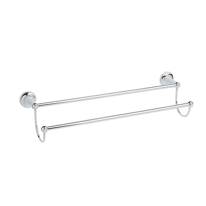 Heritage Bathroom Accessories: Heritage Clifton Double Towel Rail Chrome Plated, ACC07