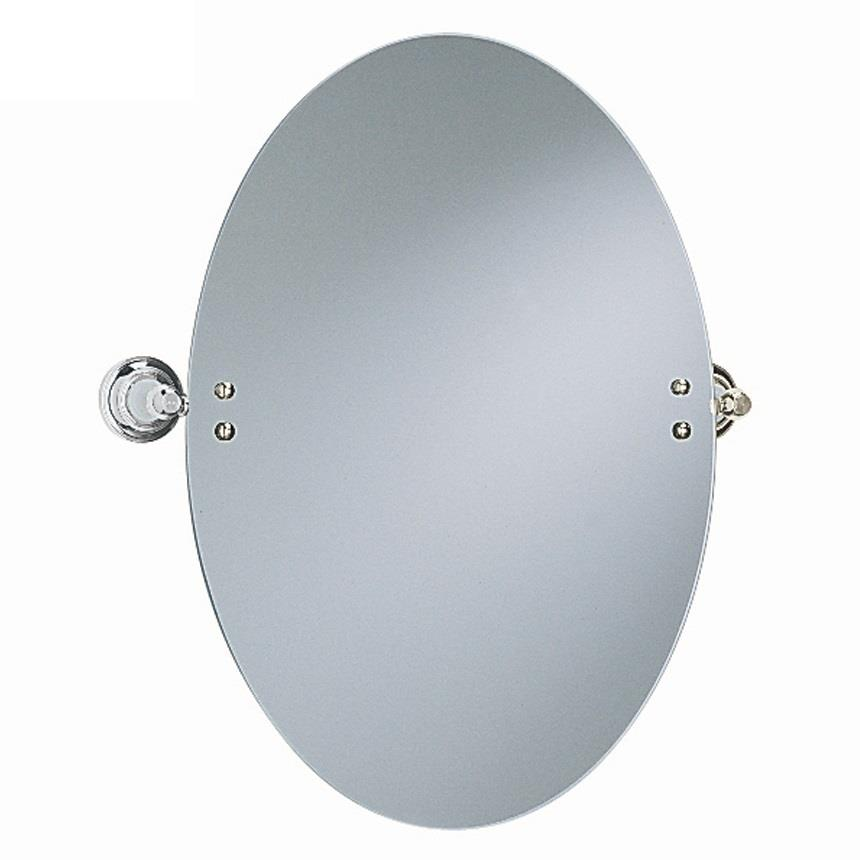 Heritage clifton oval swivel mirror chrome plated acc17 for Oval swivel bathroom mirror