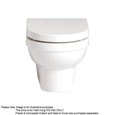 HERITAGE Zaar Wall Hung WC Pan White, PZWW00