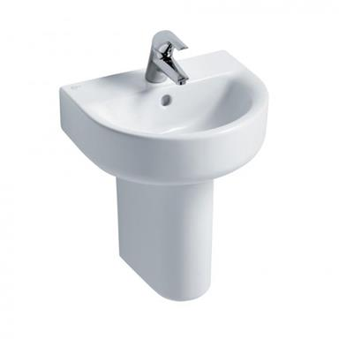IDEAL STANDARD Concept Arc 45cm 1 TH Handrinse Basin and Semi-Pedestal E796601