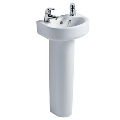 IDEAL STANDARD Concept Arc 35cm 2 TH Handrinse Basin and Full Pedestal E793201