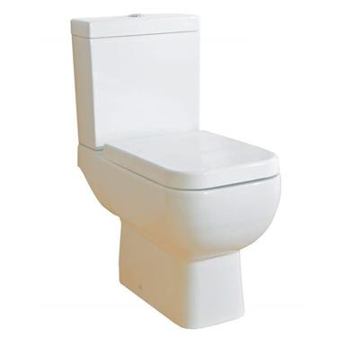 RAK CERAMICS Series 600 Close Coupled Slow Close WC Set, White, S600PAKSC
