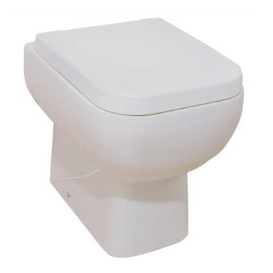 RAK CERAMICS Series 600 Back To Wall Slow Close WC Set, S600BTWPAN + RAKSEAT001