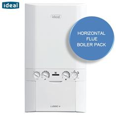 IDEAL Logic Plus 30kW HE Combination Boiler and Horizontal Flue Kit
