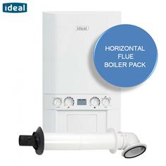 IDEAL LOGIC 30KW COMBI BOILER and HORIZ FLUE