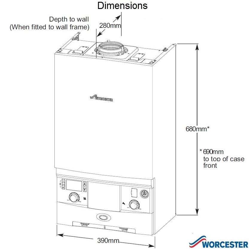 Worcester greenstar 25si compact he condensing combi for Kitchen unit for boiler