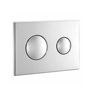 ARMITAGE SHANKS Dual Flush WC Wall Plate Unbranded Chrome Plated S4399AA