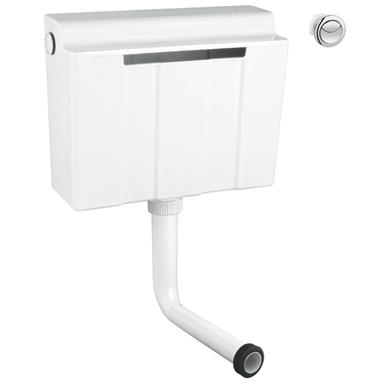 GROHE Concealed WC Cistern 6/3 ltr Side/Back Inlet incl. Dual Push Button, 39054 000