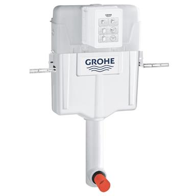 GROHE GD2 Concealed Cistern 6/3 ltr, Side/Back/Top Inlet, No Button, 38661 000