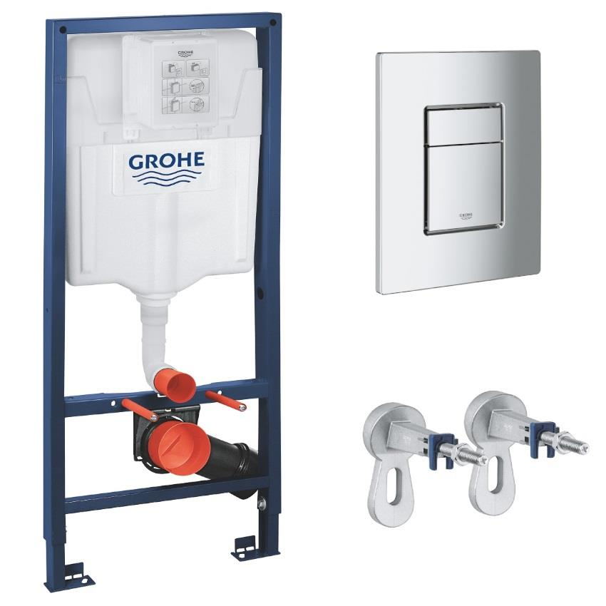 Grohe Rapid Sl 3 In 1 Wc Set Incl 113m Concealed Frame And Cistern