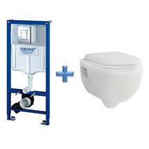 GROHE 38772 Concealed Cistern Kit Frame c/w Wall Hung Toilet Pan