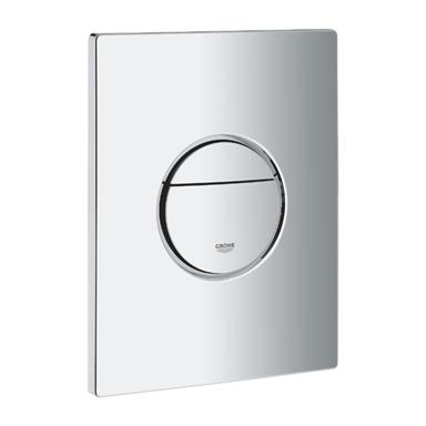 GROHE Nova Cosmopolitan Dual Flush WC Wall Plate, Chrome Plated, 38765 000