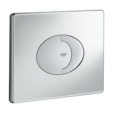 GROHE Skate Air Dual Flush WC Wall Plate, Horizontal, Chrome Plated, 38506 000