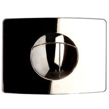 MULTIKWIK Triaqua Solar Dual Flush Wall Plate, Chrome Plated, TRF0427S