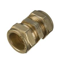22MM BRASS COMPRESSION COUPLER