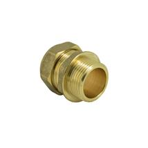"15MMx1/2"" MALE IRON BRASS COMPRESSION COUPLER"