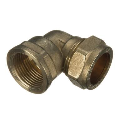 "28MMx1"" FEMALE IRON BRASS COMPRESSION ELBOW"