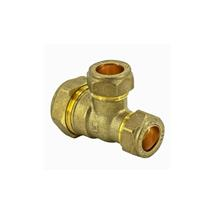 22MMx22MMx15MM BRASS COMPRESSION BRANCH REDUCING TEE