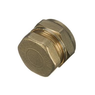 22MM BRASS COMPRESSION STOP END