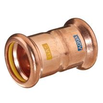 M-PRESS Aquagas Copper 22mm Straight Coupling, 990002222