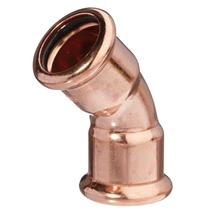 M-PRESS Copper 66.7mm 45 Degree Elbow, 682306666