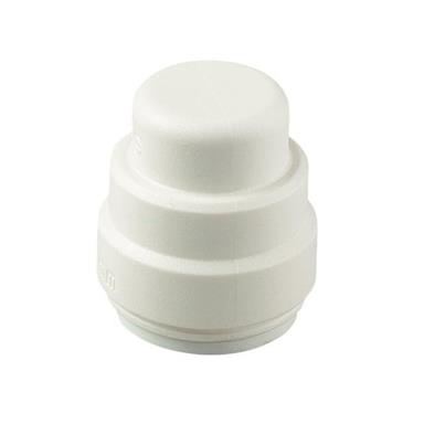 SPEEDFIT Stop End 15mm White, PSE4615W