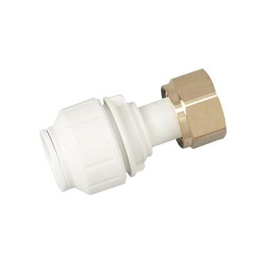 "SPEEDFIT Straight Tap Connector 15mm x 1/2"" White, PEMSTC1514"