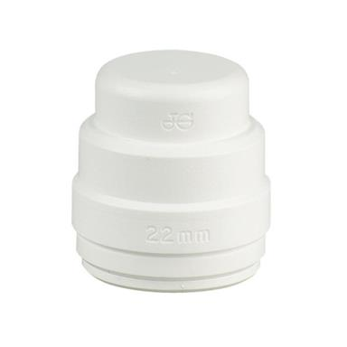 SPEEDFIT Stop End 22mm White, PSE4622W