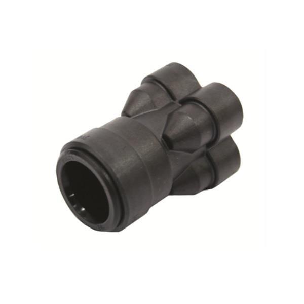 Speedfit 4 Way In Line Manifold 22mm X 10mm Black Sfm512210e