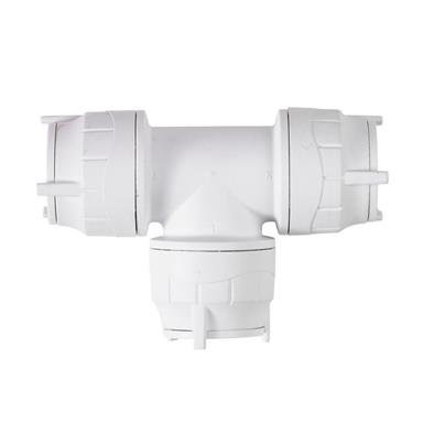 POLYPIPE PolyFit 28mm Equal Tee, White, FIT228