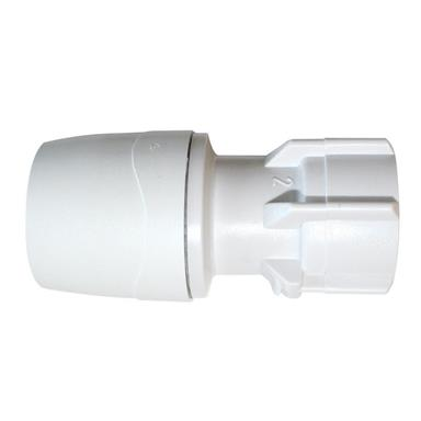 "POLYPIPE PolyMax 15mm x 3/4"" Hand Tighten Straight Tap Connector, White, MAX271534"