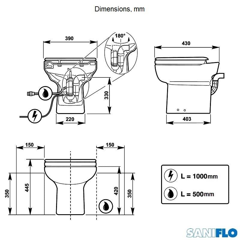 Saniflo Sanicompact Cisternless Ceramic Wc Macerator Wc