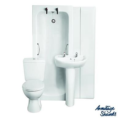 ARMITAGE SHANKS Sandringham21 'Bathroom To Go' Boxed Pack incl. 2 TH Basin, S050101