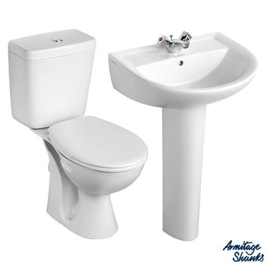 ARMITAGE SHANKS Sandringham21 'Toilet and 1 TH Basin To Go' Pack S049301