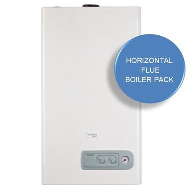 VOKERA Compact 25A Combination Boiler, Horizontal Flue and RF Thermostat Boiler Kit