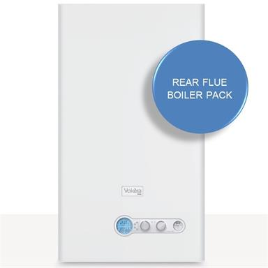 Vokera Vision 30C Combination Boiler and Rear Flue