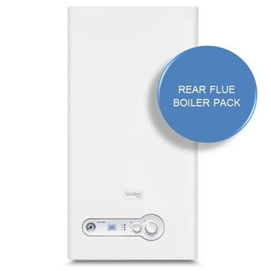 Vokera Unica i28 Combination Boiler and Rear Flue