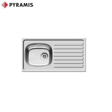 PYRAMIS BS Inset Stainless Steel Kitchen Sink 940 x 490 Reversible 1+1 TH 100165801