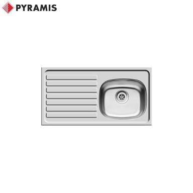 PYRAMIS BS Inset Stainless Steel Kitchen Sink 940 x 490 LH Drainer 2 TH 100127201