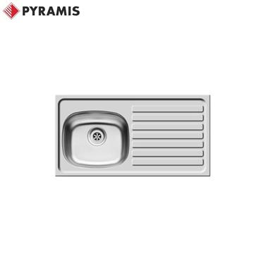 PYRAMIS BS Inset Stainless Steel Kitchen Sink 940 x 490 RH Drainer 2 TH 100127301